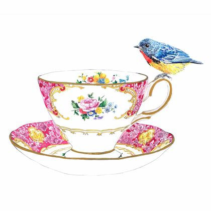 Tea Cup and Bird Lady Carlyle limited edition
