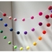 Rainbow/Multicolor Felt balls Garland 3 metres adjustable