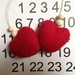 Felted Heart Christmas Decoration