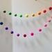 Multi-color  Felt Ball Garland 2M 2.5cm