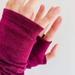 Dark Fuchsia Merino Gloves