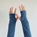 Blues Stripe Merino Gloves