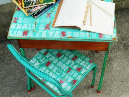 massive sale vintage retro rimu school desk chair felt