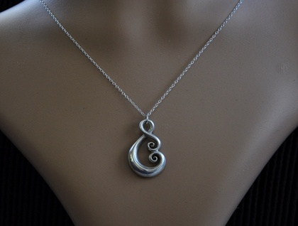Sterling Silver 925 Pendant~ Maori Love symbol