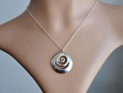 Sterling Silver 925  Koru Pendant