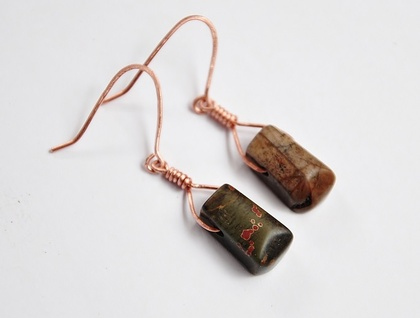 Earthy Copper Gemstone earrings