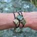 Earthy Green gemstone & copper Yoga/ 4th chakra bracelet