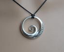 Sterling silver Wave Pendant ~koru design