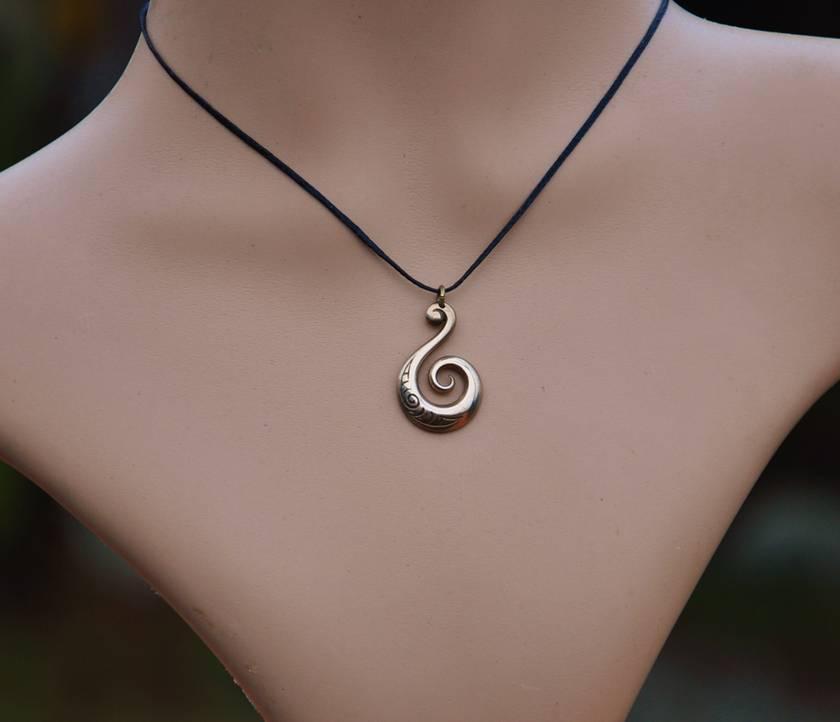 Bronze Koru Pendant~ New Zealand jewellery