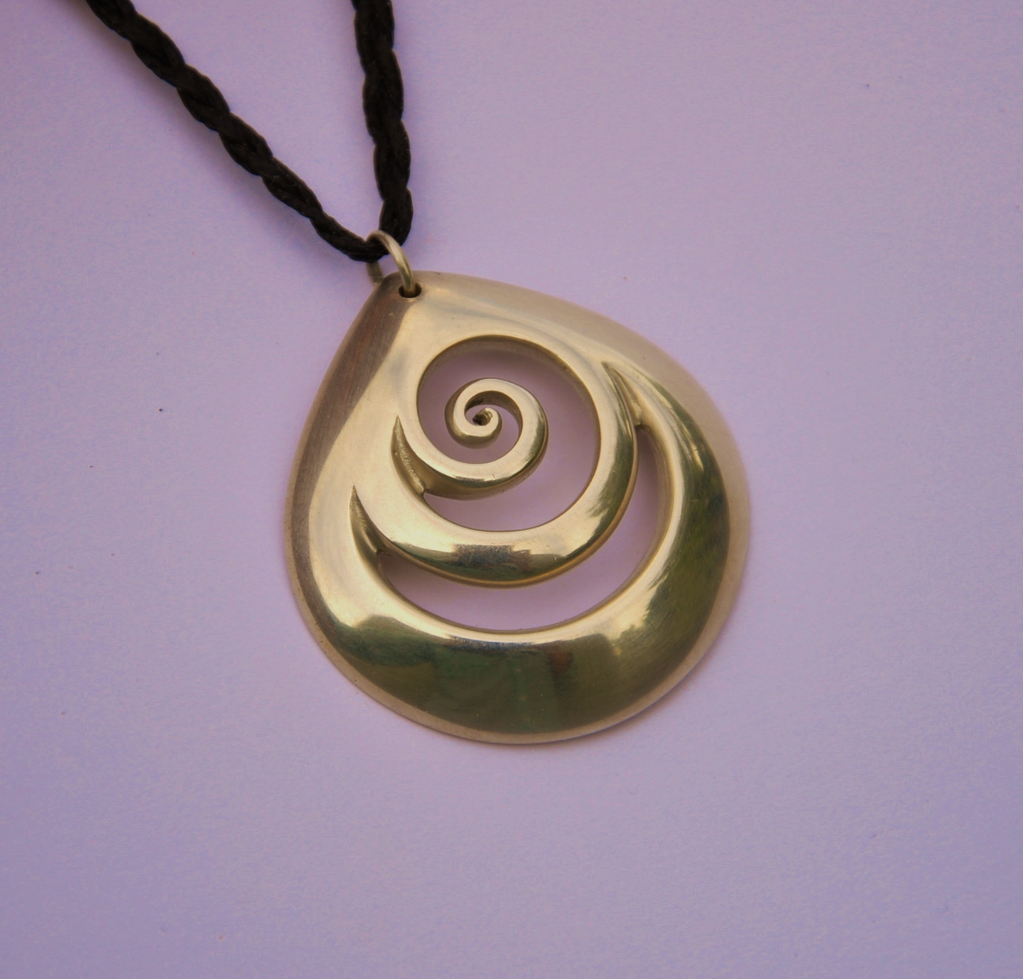 silver argento zealand necklace koru silvermoon new
