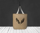Two Black Feathers Oversized Tote Bag
