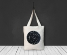 Flying Birds in a Circle Cotton Canvas Tote Bag