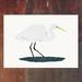 White Heron - Kotuku - New Zealand Bird A4 Archival Art Print