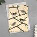 Stitchbird - New Zealand Bird Illustrated Greeting Card