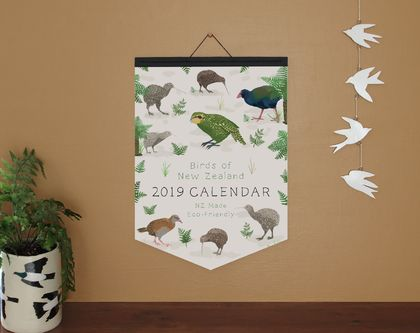 •Sale• Birds of NZ A3 Eco-Friendly Calendar - Paper Binding