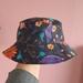 Blue Floral hat - preschool age size