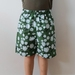 Green floral shorts - size 6