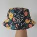 Pink & Mustard Flower hat - baby size