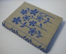 Cross Stitch A6 Journal & Cover - Field of Flowers Blue