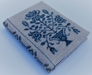 Cross Stitch A6 Journal & Cover - Bouquet of Blue