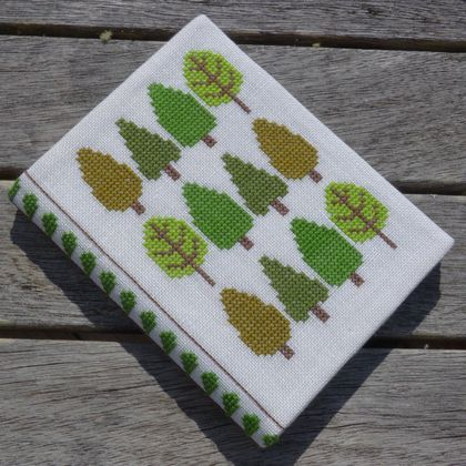 Cross Stitch A6 Journal & Cover - Forest of Spring