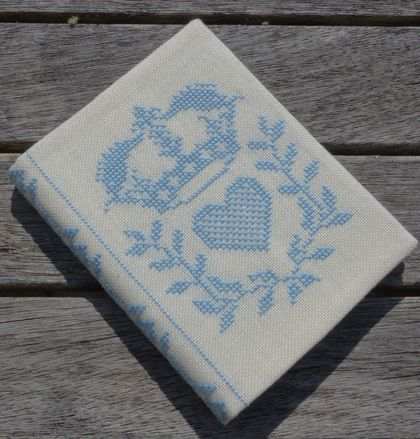 Cross Stitch A6 Journal & Cover - Royal Light Blue