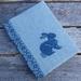 Cross Stitch A6 Journal & Cover - Rabbit