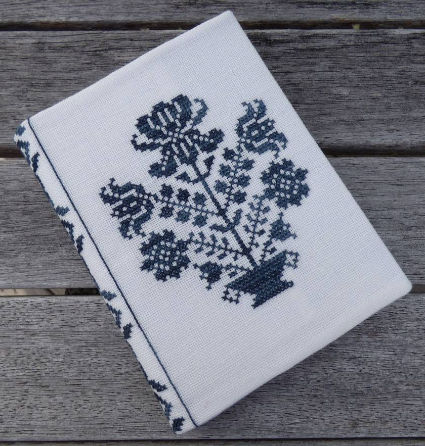 Cross Stitch A6 Journal & Cover - Vase of Flowers