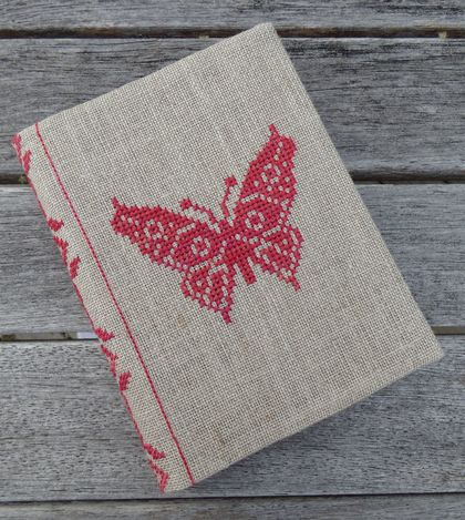 Cross Stitch A6 Journal & Cover - Butterfly