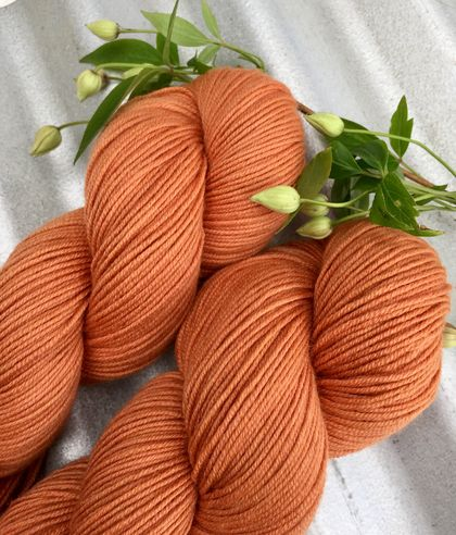 Naturally dyed merino sportweight wool yarn