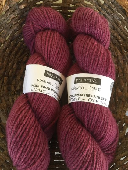 10ply NZ merino cross wool yarn naturally dyed