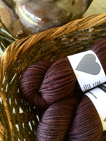 8ply NZ wool naturally dyed yarn