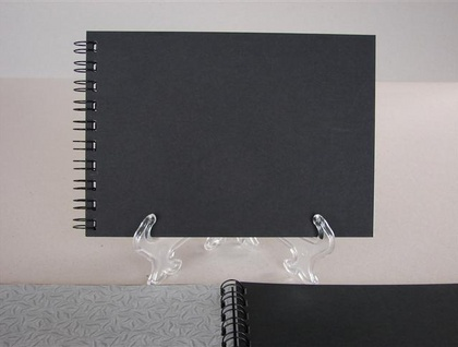 PHOTO ALBUM - SPIRAL BOUND - A5 THE BLACK ALBUM