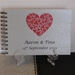 PHOTO ALBUM, GUEST BOOK A5 & A4 CUSTOMISED HEARTS