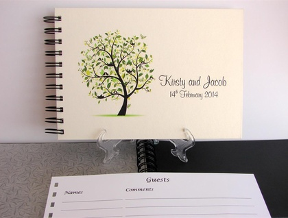 PHOTO ALBUM, GUEST BOOK A5 21st - WEDDING - TREE