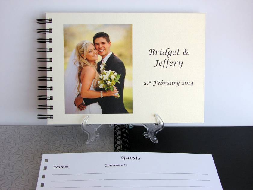 PHOTO ALBUM, GUEST BOOK A5 PERSONALISED PHOTO FOR WEDDING, BIRTHDAY, MEMORIAL OR ANY OCCASION