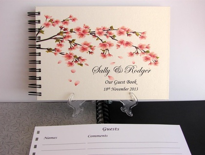 GUEST BOOK, PHOTO ALBUM A5 & A4 CHERRY BLOSSUM