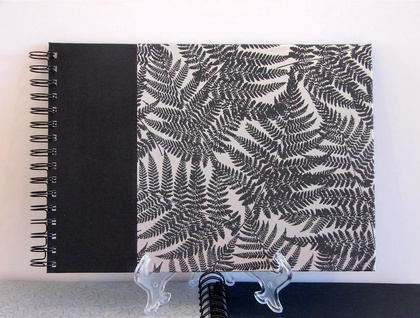 PHOTO ALBUM, GUEST BOOK A4 SILVER FERN