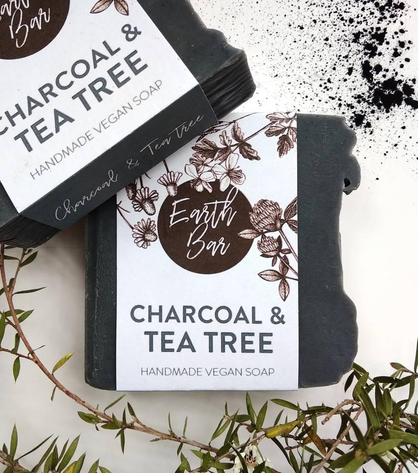 Handmade Vegan Soaps - Charcoal & Tea Tree
