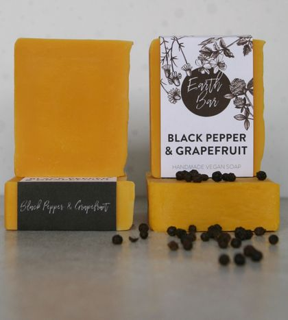 Handmade Vegan Soaps - Black Pepper & Grapefruit