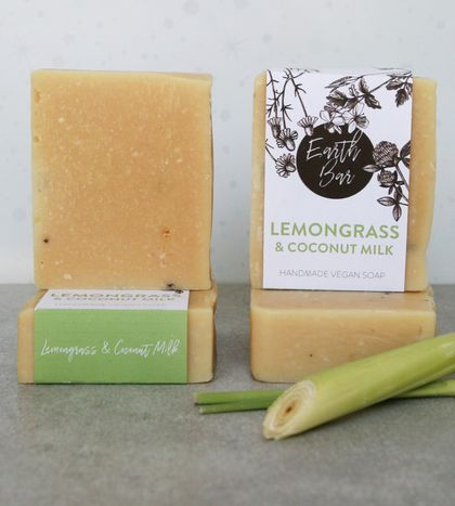 Handmade Vegan Soaps - Lemongrass & Coconut Milk