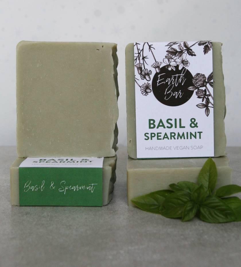 Handmade Vegan Soaps - Spearmint & Basil