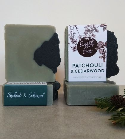 Handmade Vegan Soap - Patchouli and Cedarwood