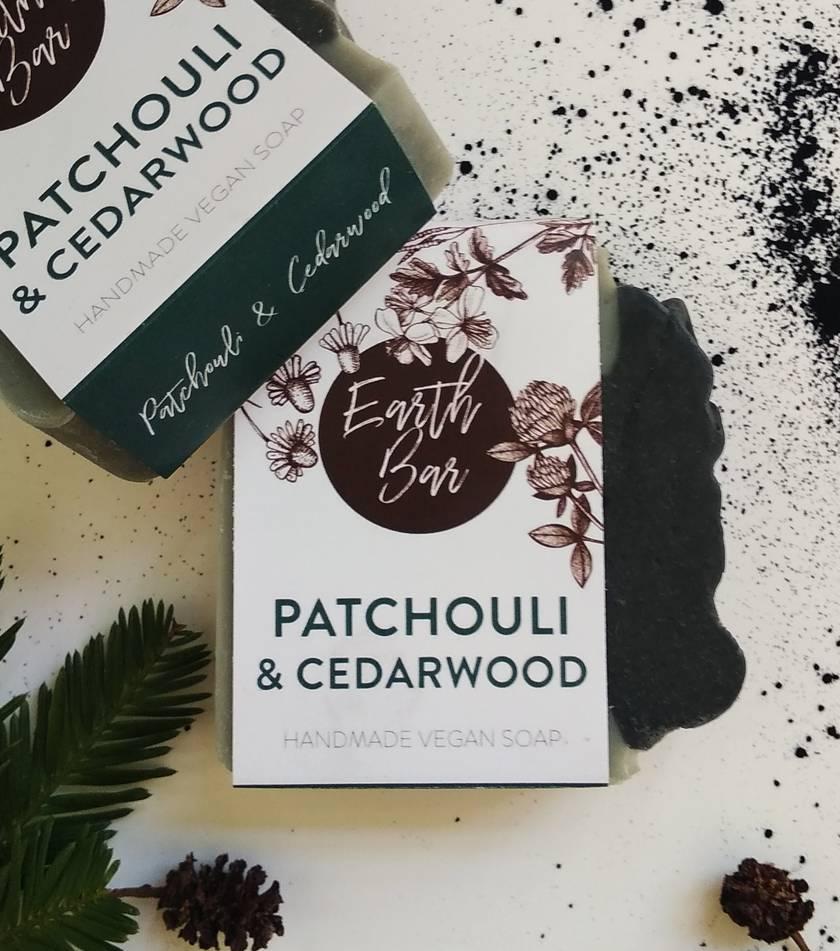 Handmade Vegan Soap - Patchouli and Cedarwood