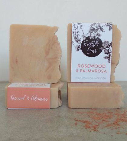 Handmade Vegan Soap - Rosewood and Palmarosa