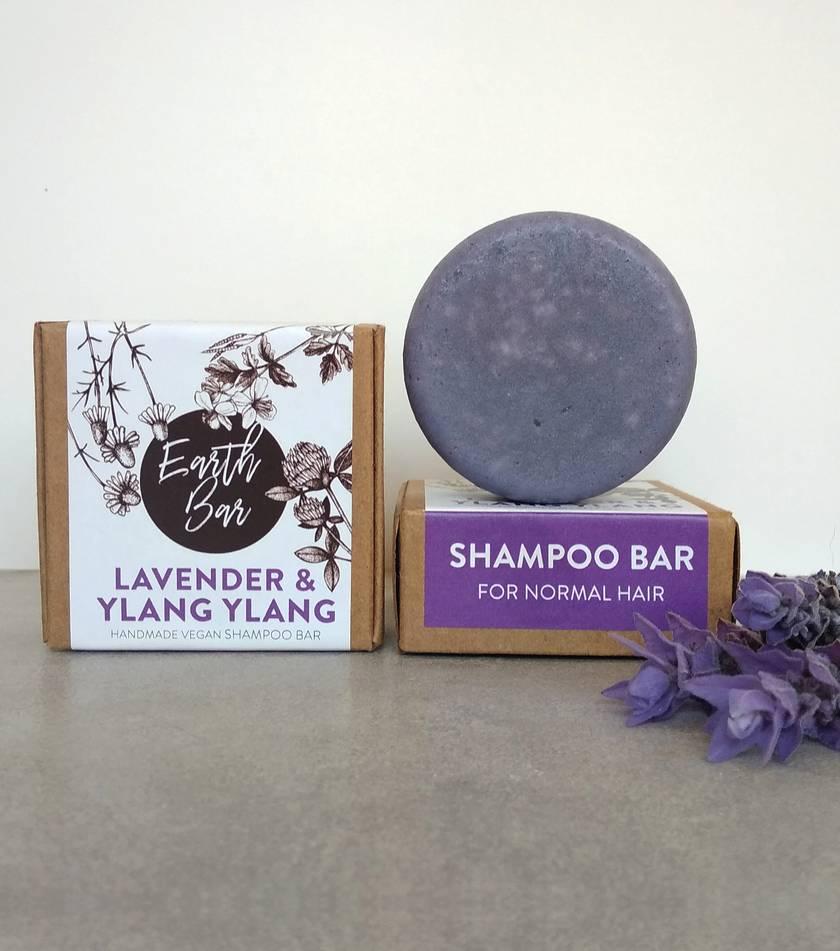 Handmade Vegan Syndet Shampoo Bar - Lavender & Ylang Ylang