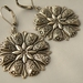 """Vintage Glam"" - earrings - antique silver floral medallions on antique silver leverback earwires"