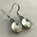 """Vintage Bling"" - earrings - vintage etched glass stones with light sapphire Swarovski crystals"