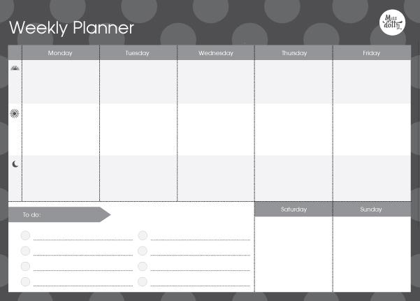 work week planner