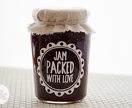 """Jam packed with love"" Decal - White"